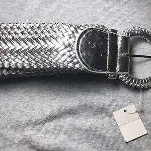 Accessories - New Women's silver woven belt